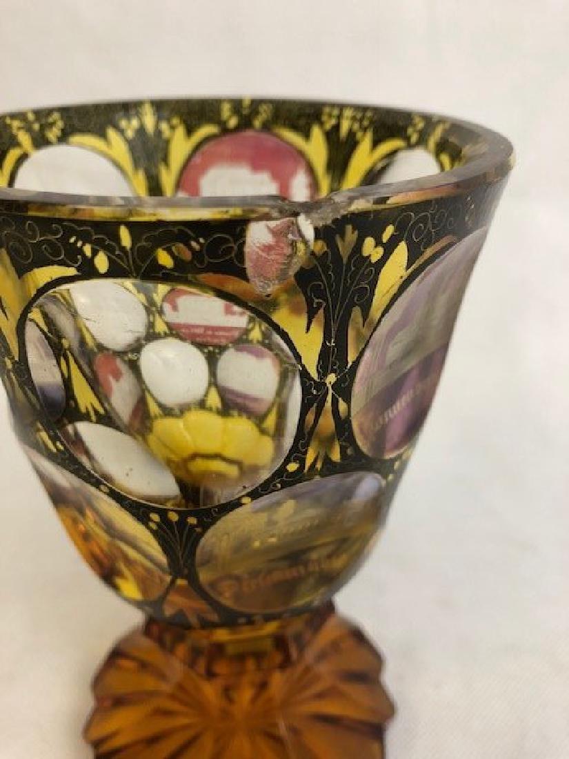Bohemian Engraved Goblet - 3