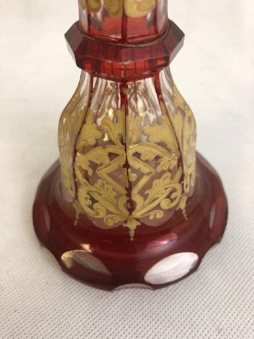 Bohemian Enamelled Perfume Bottle - 2