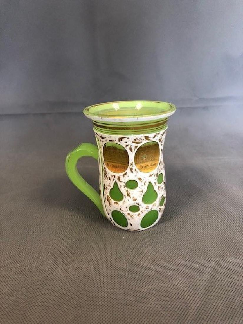Green bohemian beaker - 2