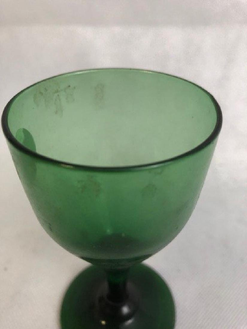 Green Glass Globlet - 2
