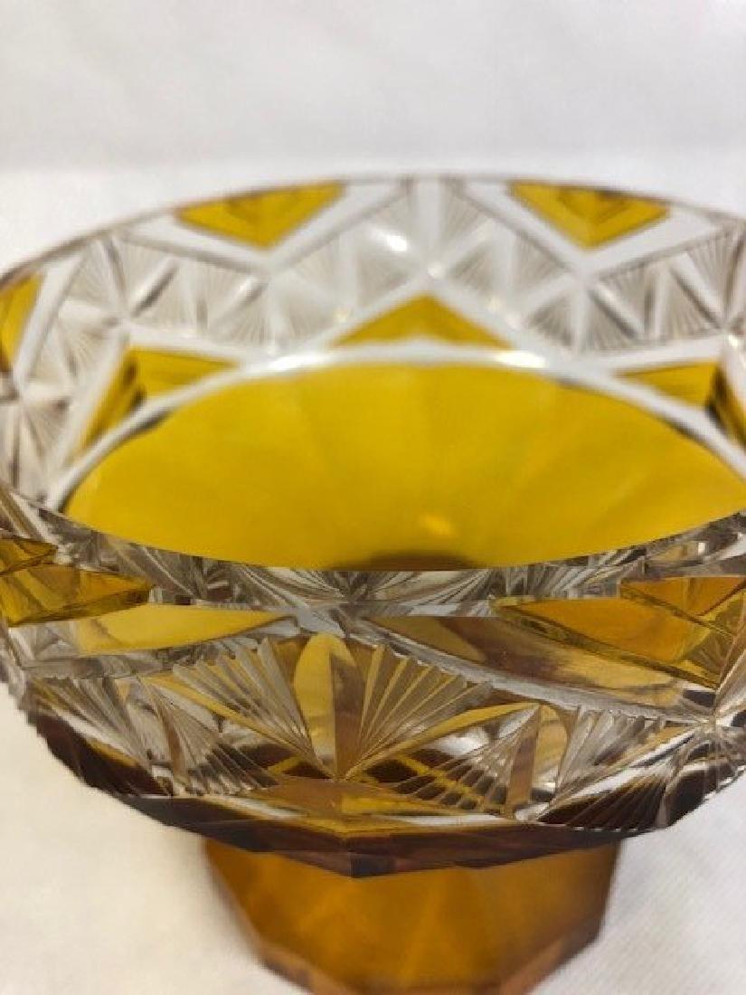 Amber Bohemian Bowl - 2