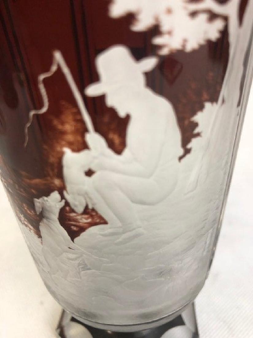 Bohemian Goblet Deep cut Engraved - 2