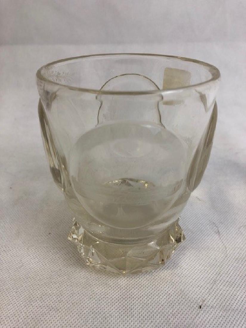 Bohemian Clear Engraved Beaker