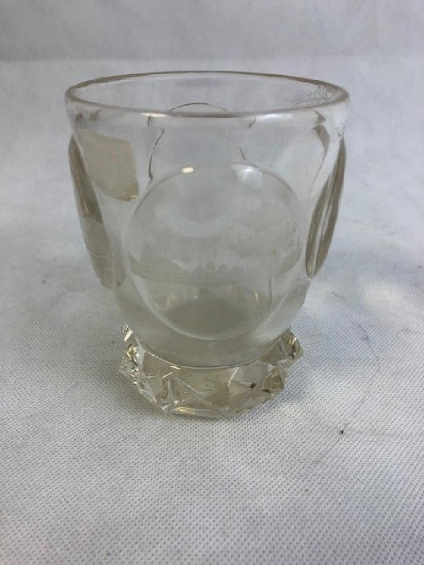 Bohemian Clear Engraved Beaker - 3