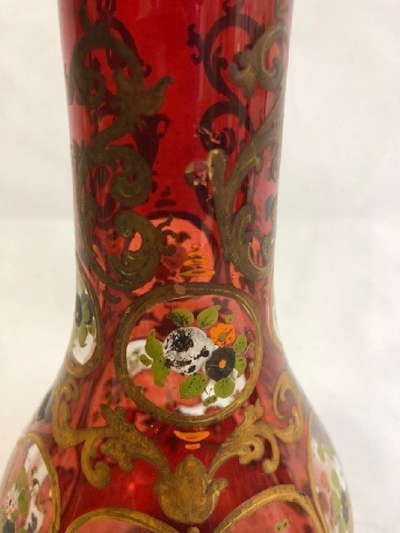 Ruby Huqqa Vase For Middle Eastern Market - 3