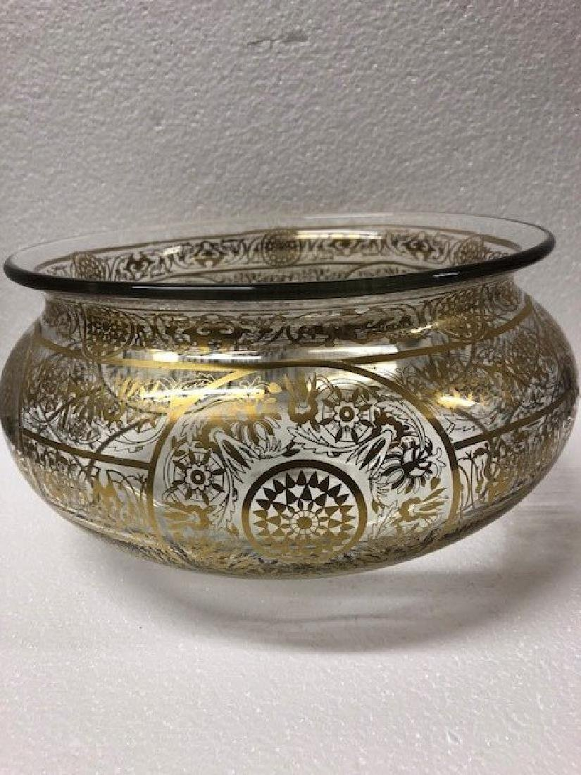 Glass Bowl Possibly for Indian Market Gold Gilding