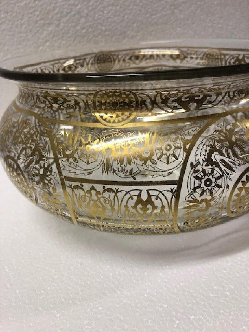 Glass Bowl Possibly for Indian Market Gold Gilding - 2