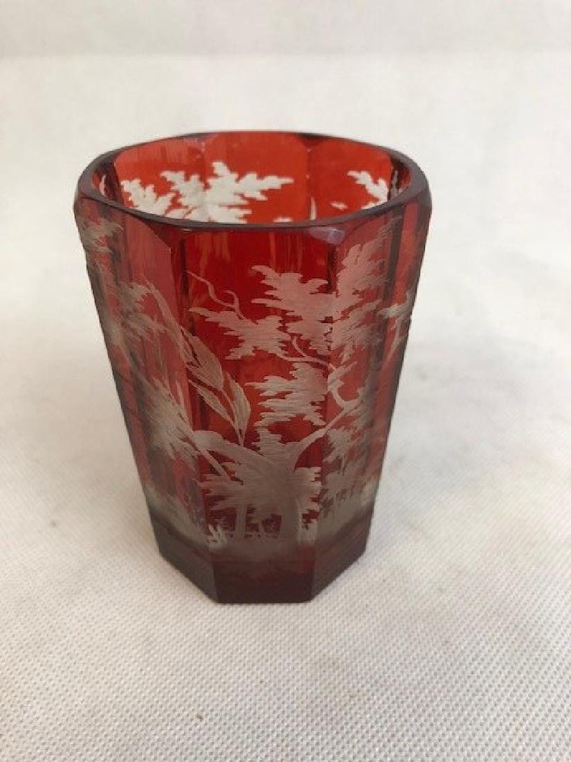 Bohemian Engraved Beaker - 2