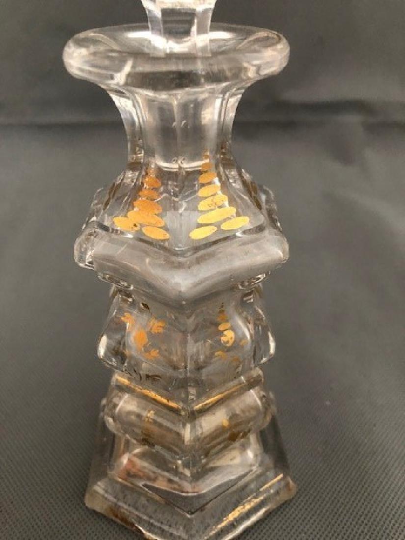 Bohemian Bottle Gold Gilded - 2