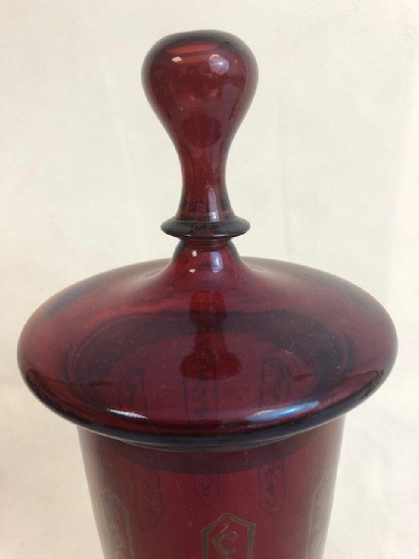 Bohemian Ruby Goblet And Cover - 2