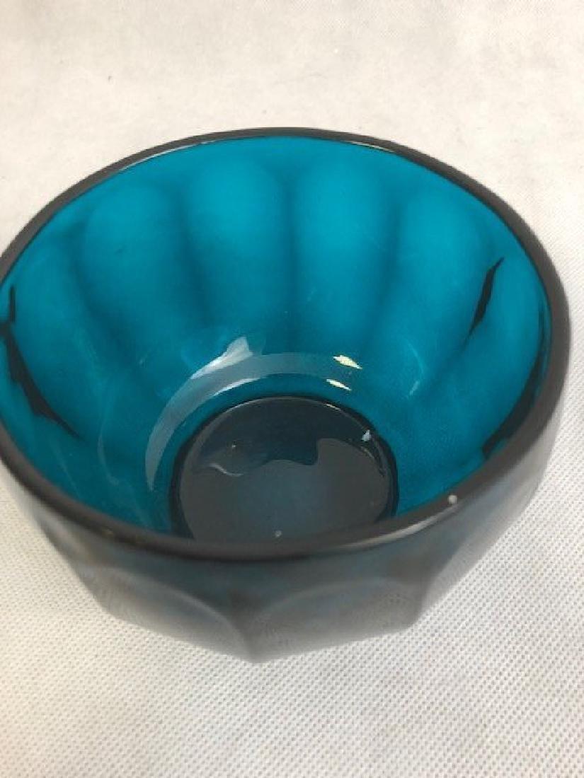 Blue glass bowl - 3