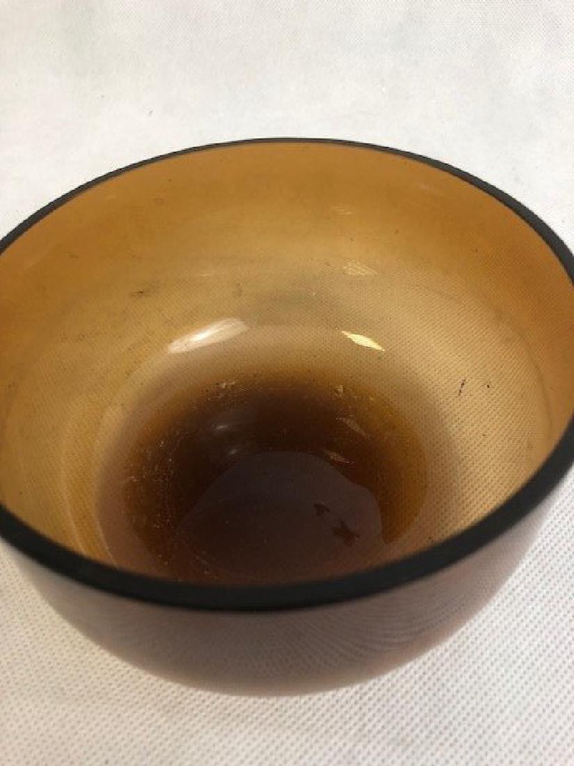 Plain glass bowl - 2