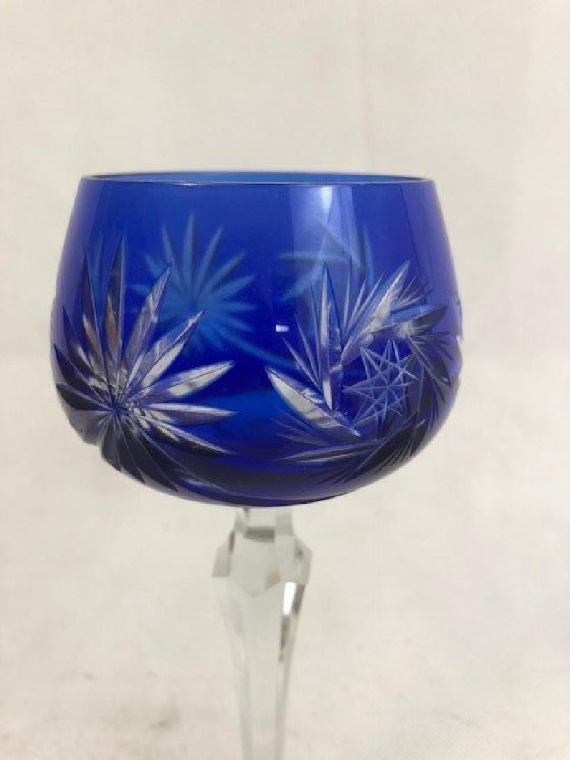 Blue crystal glass - 2