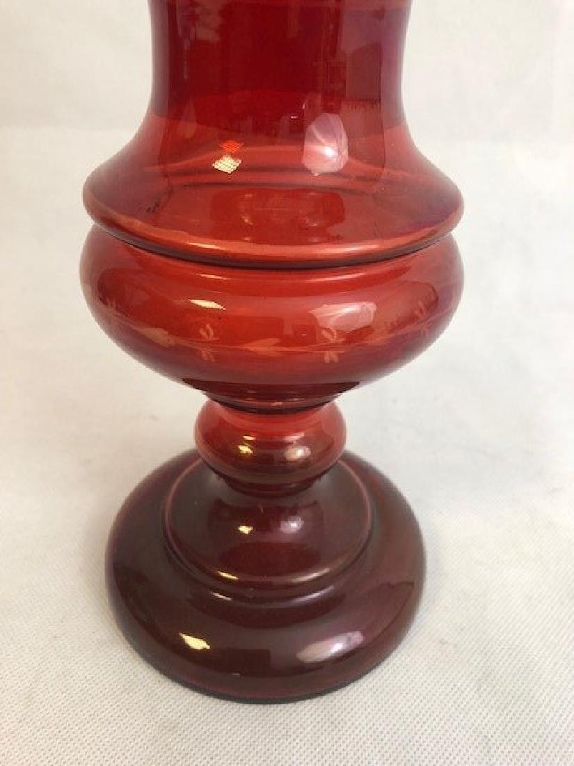 Bohemian ruby vase - 3