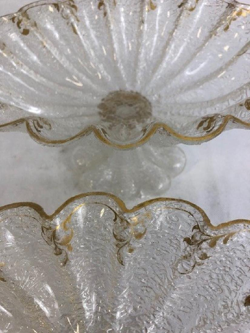 Pair of ice glass compote - 3