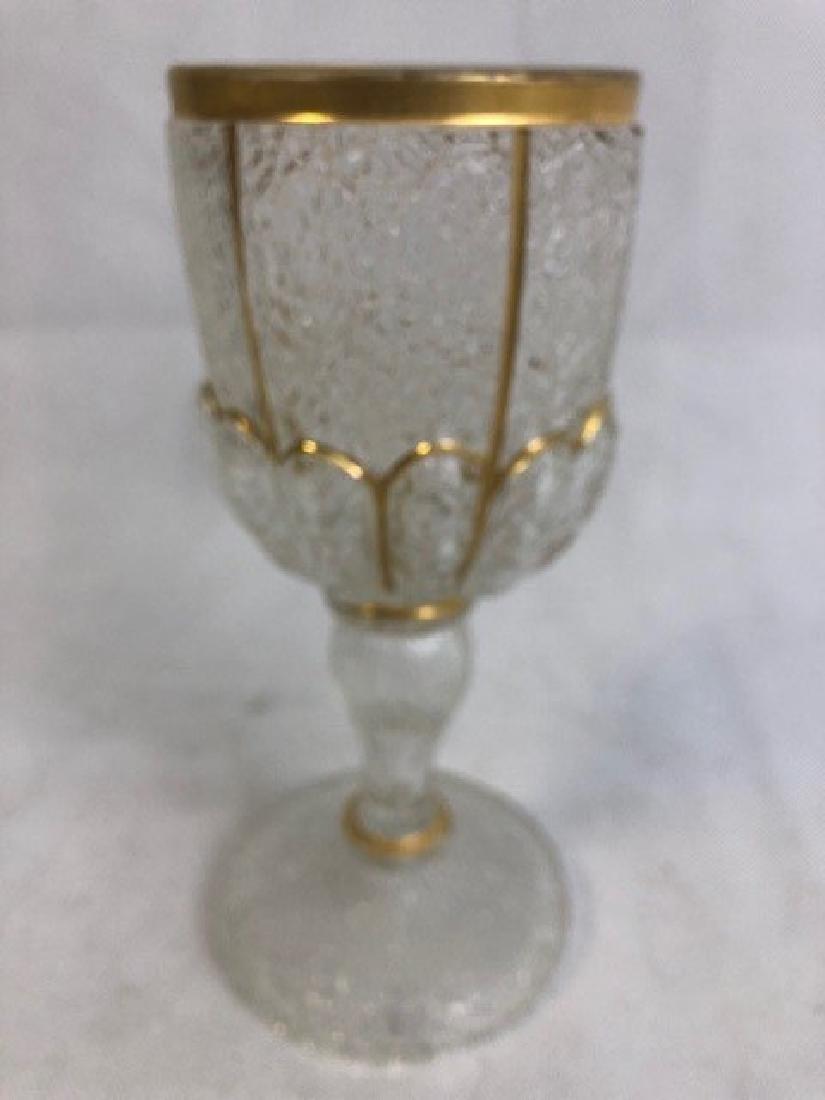 Ice glass goblet