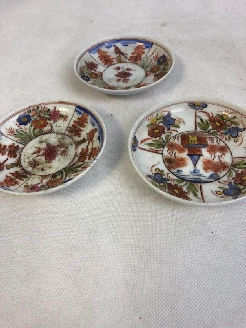 3 Opaline plate set