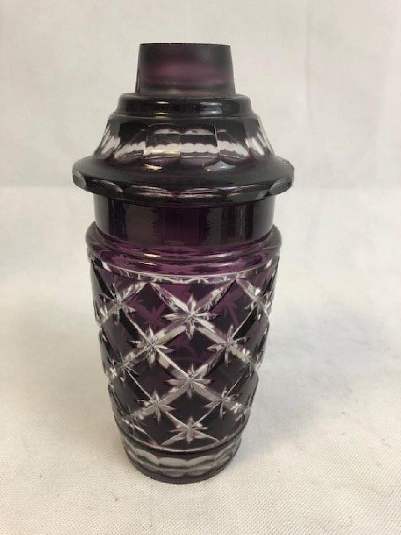 Amethyst jar and cover