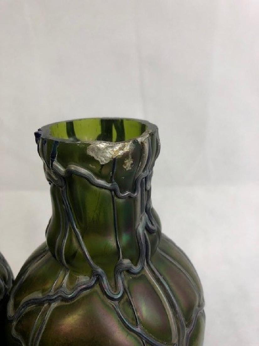 Pair of lotz style vases - 3