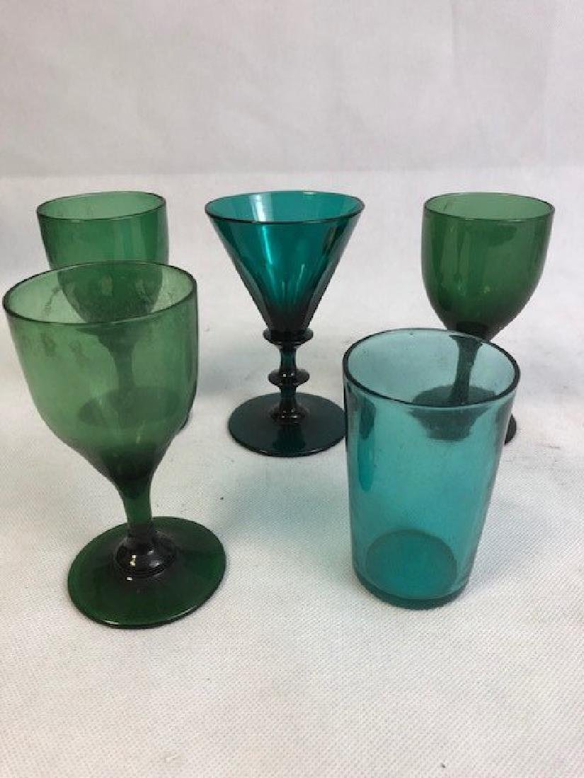 Five  green glasses