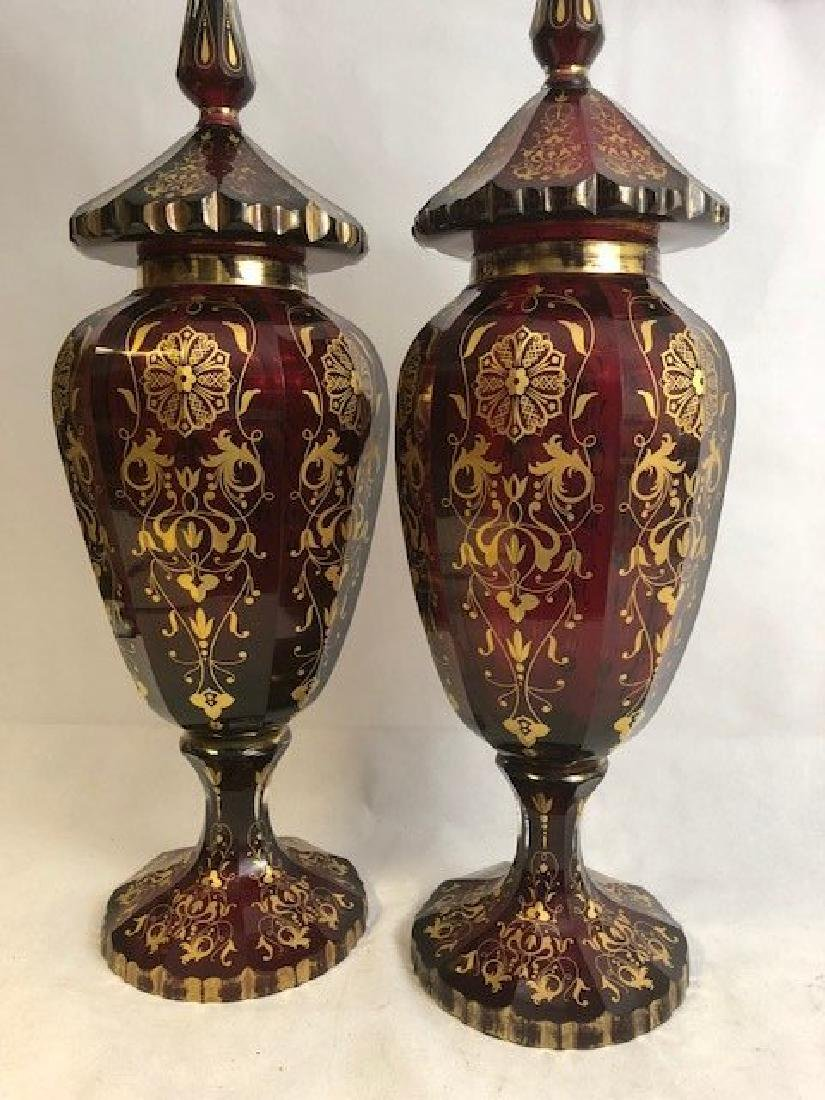 Pair Of Magnificent Ruby Jar