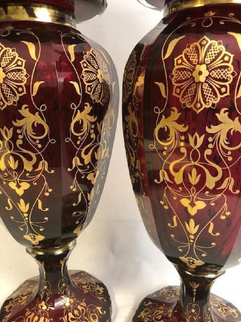 Pair Of Magnificent Ruby Jar - 2
