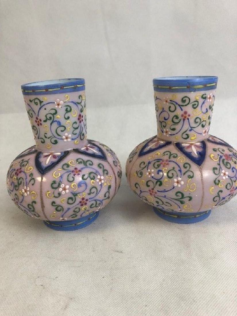Pair Thomas Webb vases