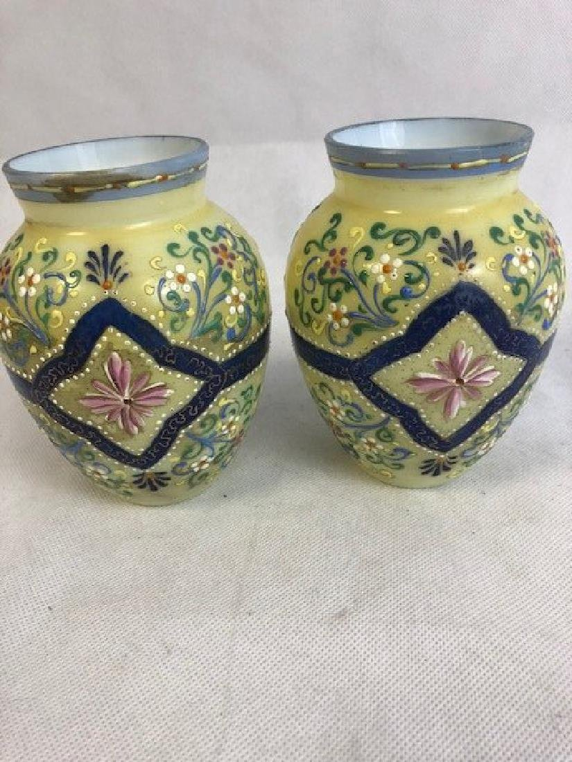 Pair Thomas Webb vases