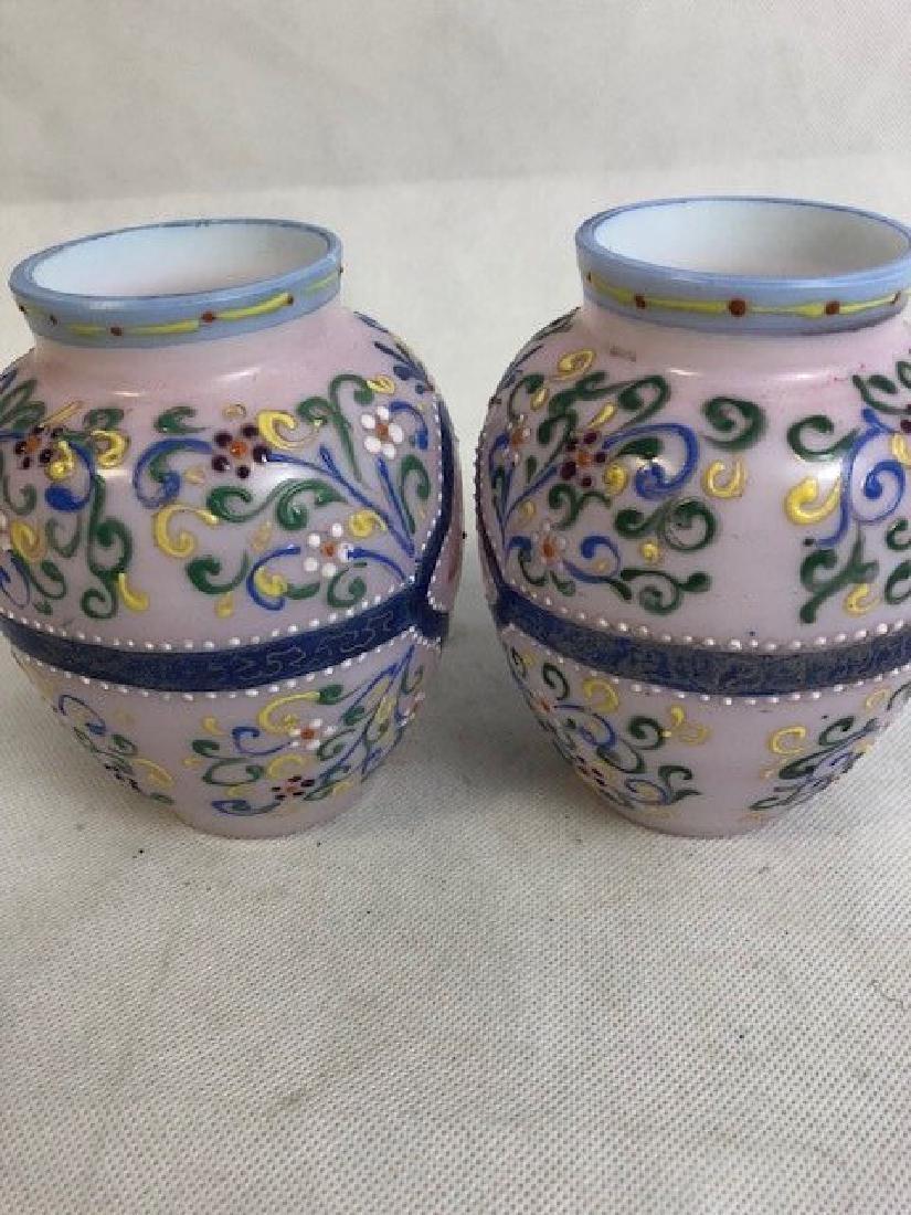 Pair Thomas Webb vases - 3