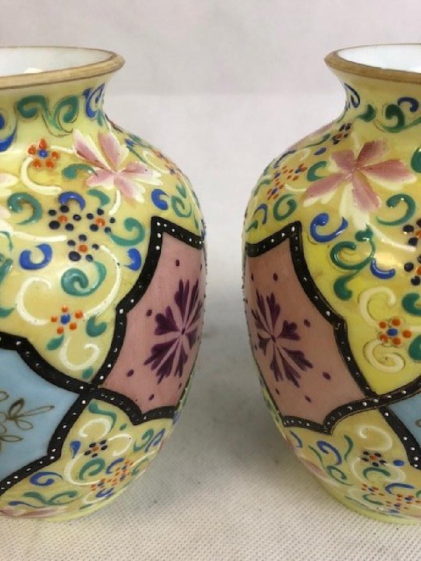 Pair Thomas Webb vases - 2