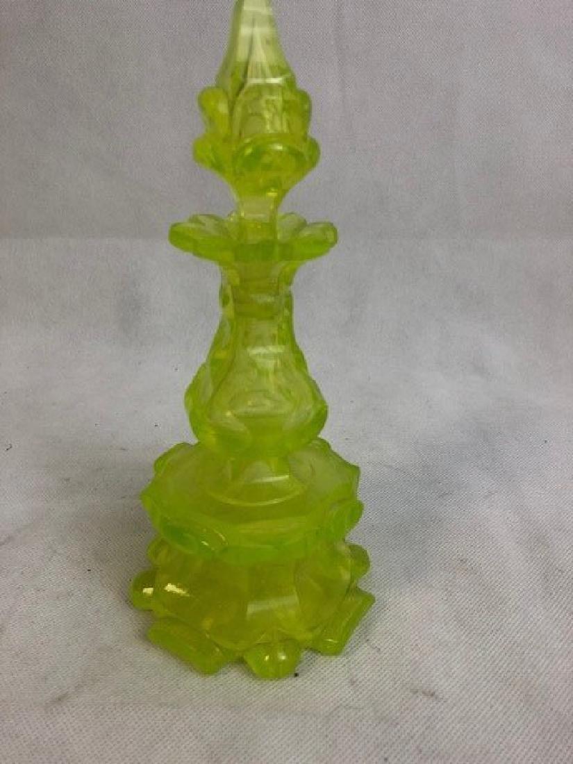 Uranium vaseline bottle Glass