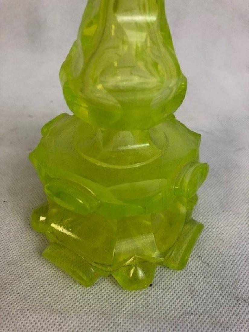 Uranium vaseline bottle Glass - 3