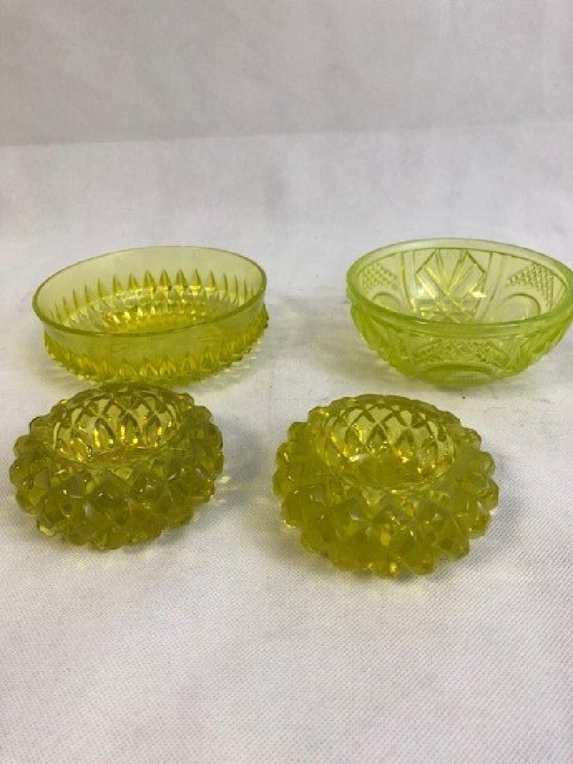Collection of Uranium vaseline Glass