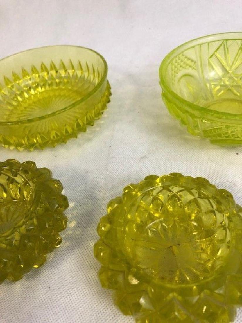 Collection of Uranium vaseline Glass - 3