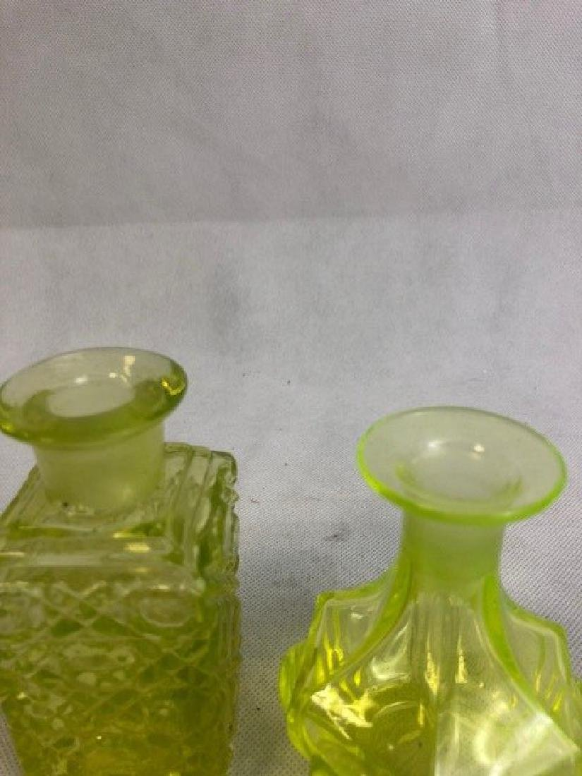 Two Uranium vaseline Glass Bottle - 3