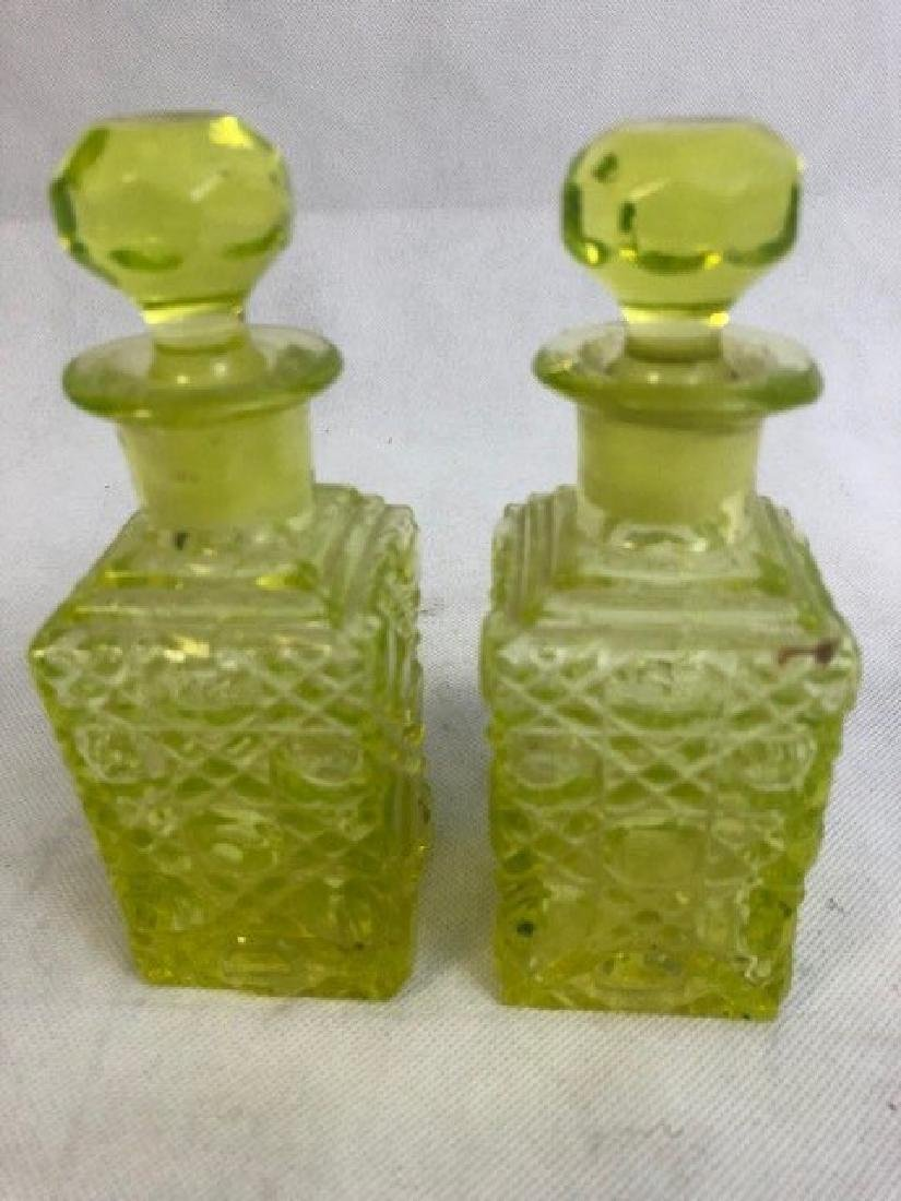 Pair Uranium Bottles