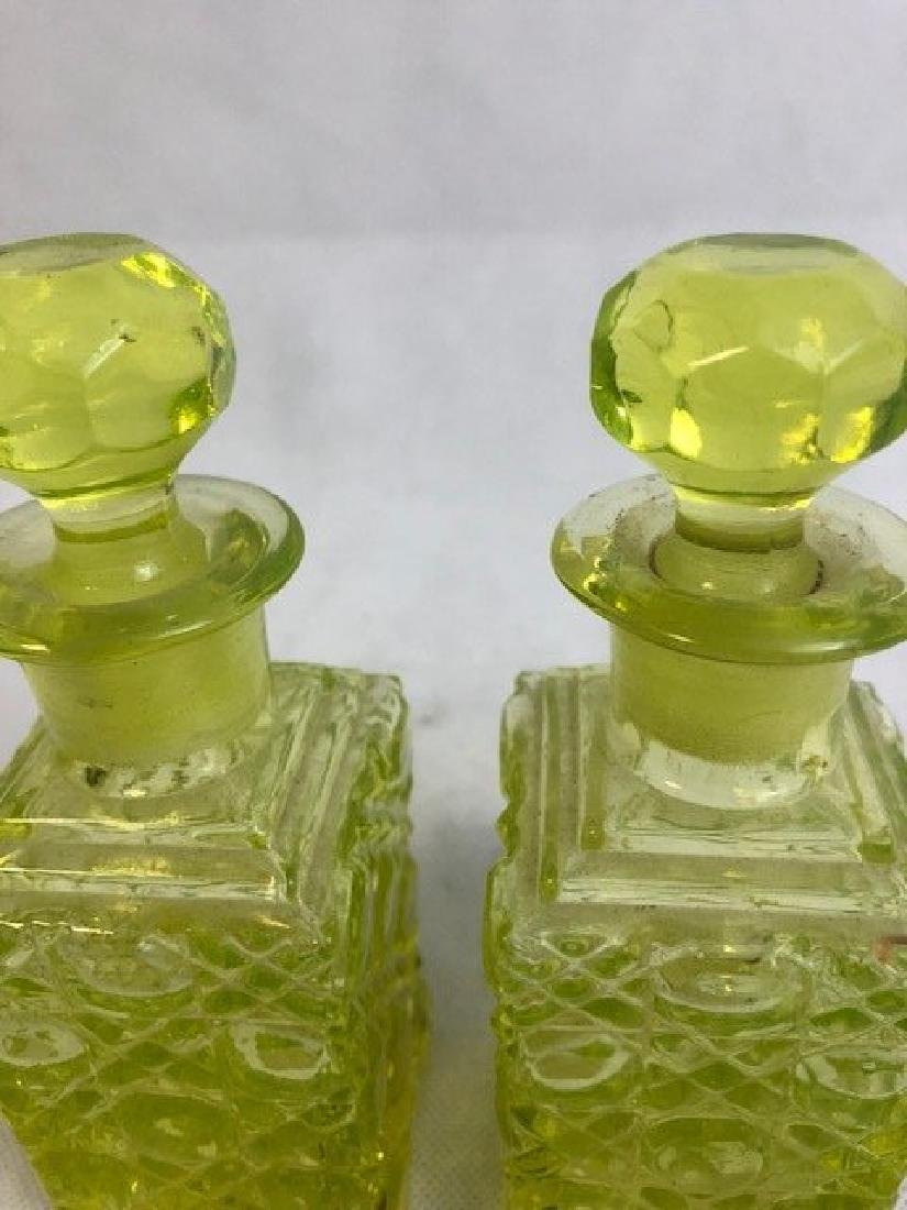 Pair Uranium Bottles - 2