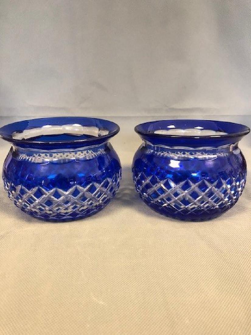 Pair bohemian blue bowls