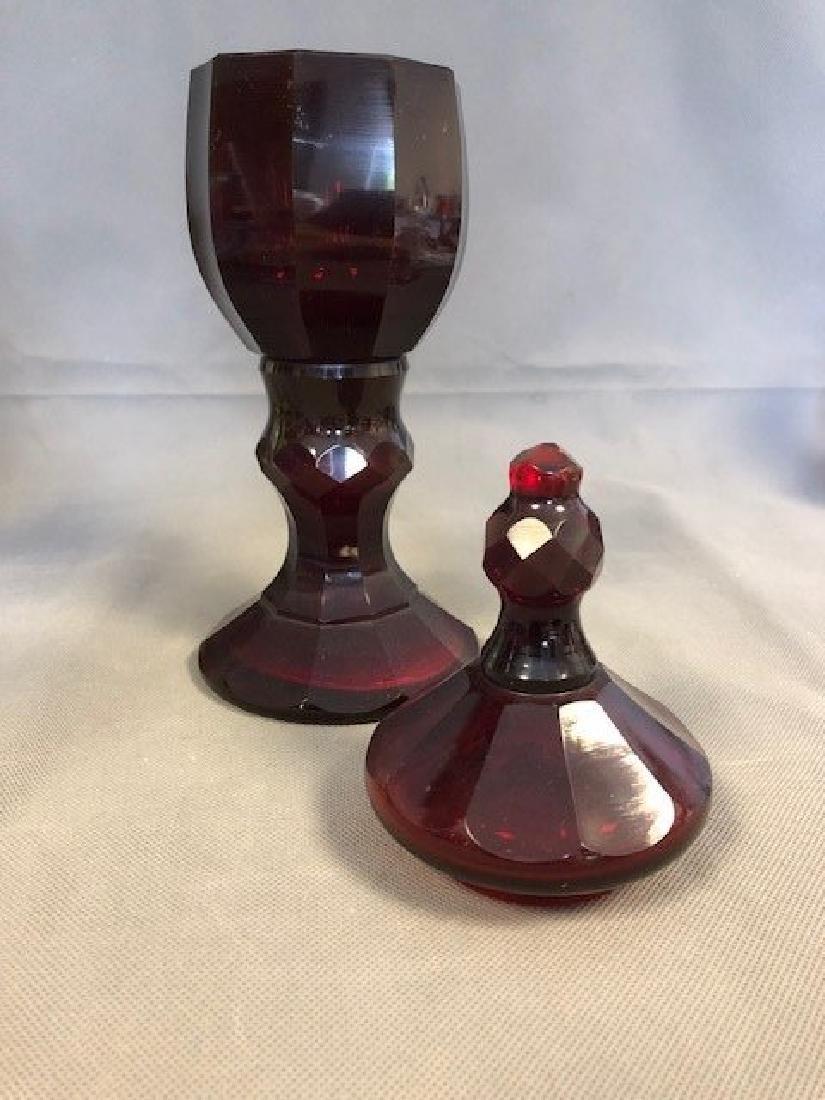 Bohemian ruby goblet - 2
