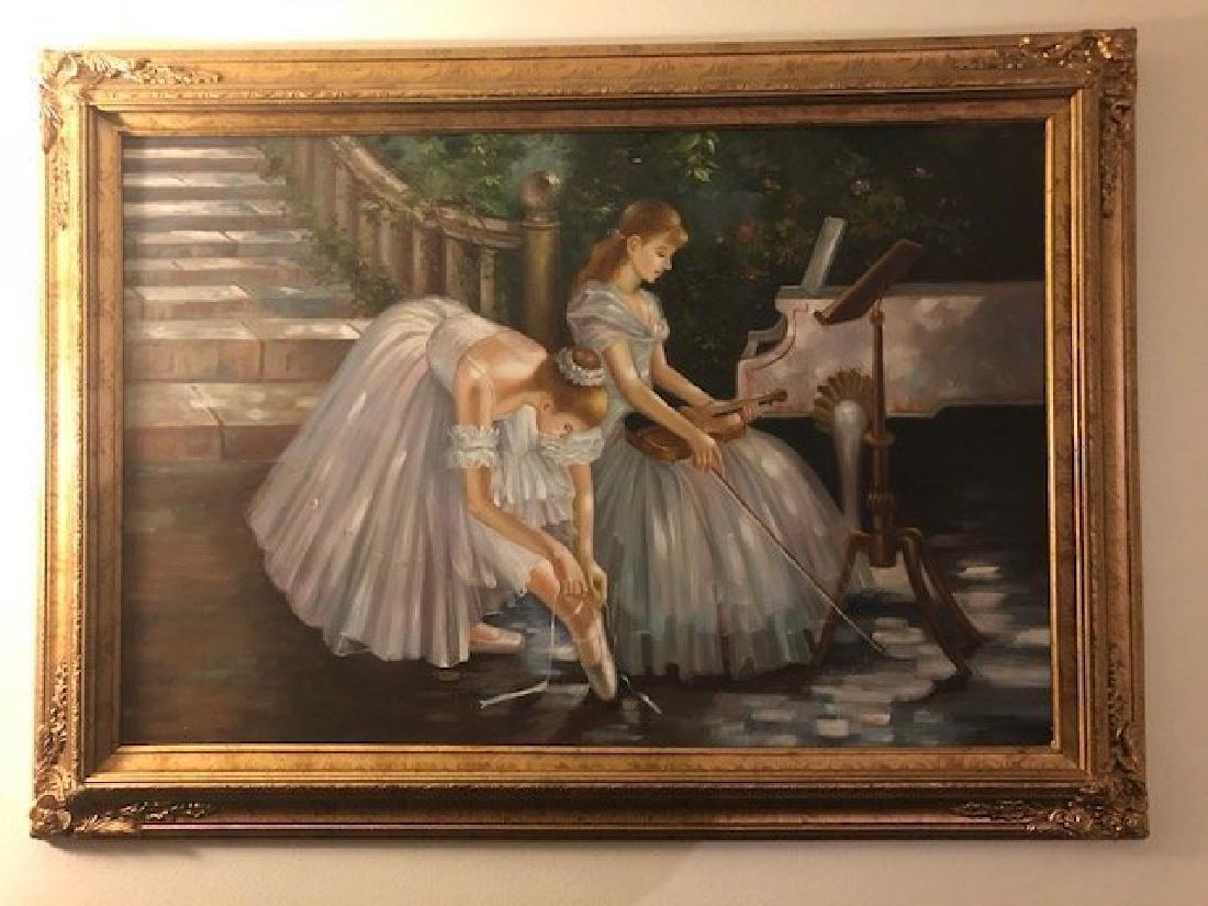 Ballerina Oil Painting