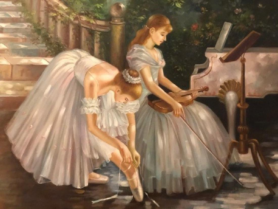 Ballerina Oil Painting - 2