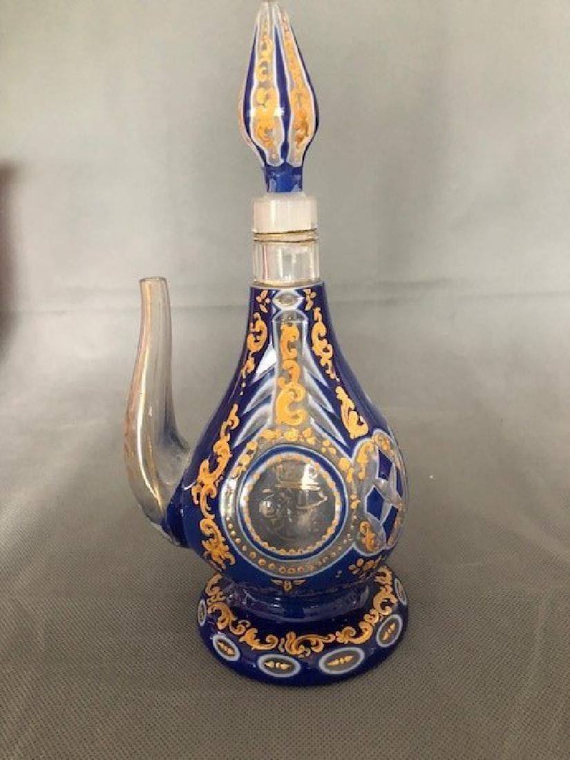 Blue jug with Arabic
