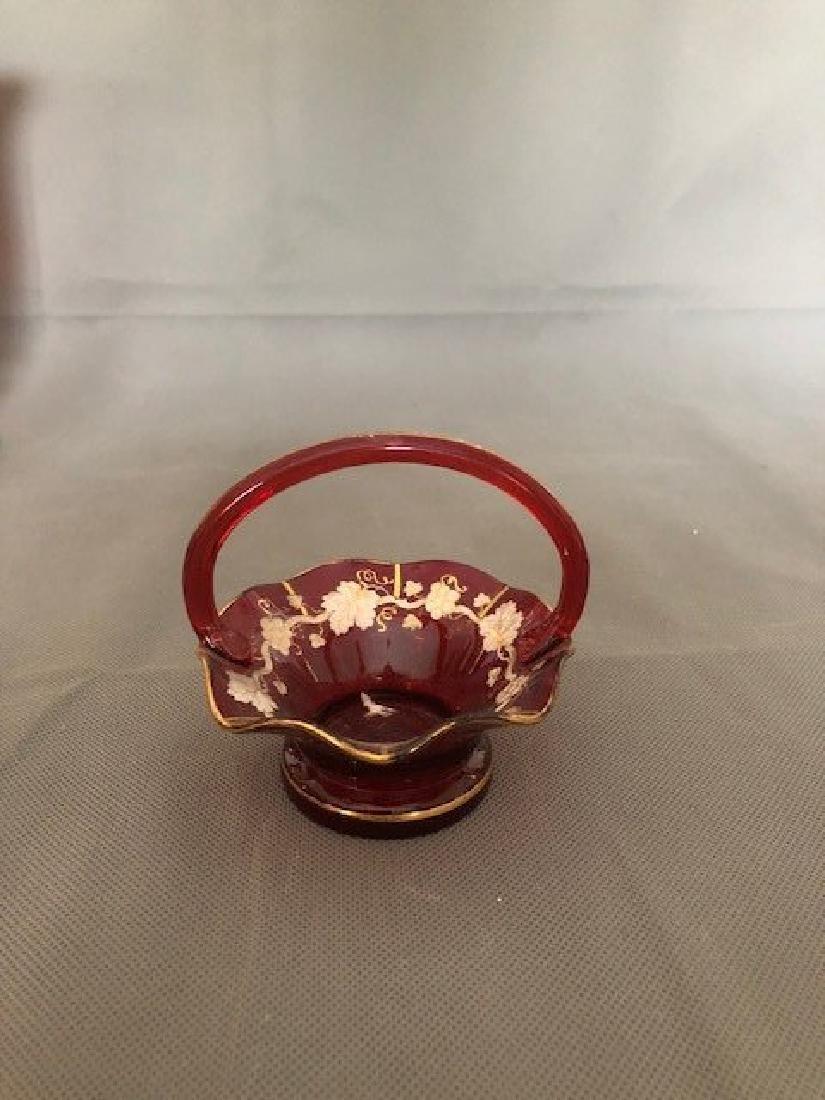 Bohemian ruby basket