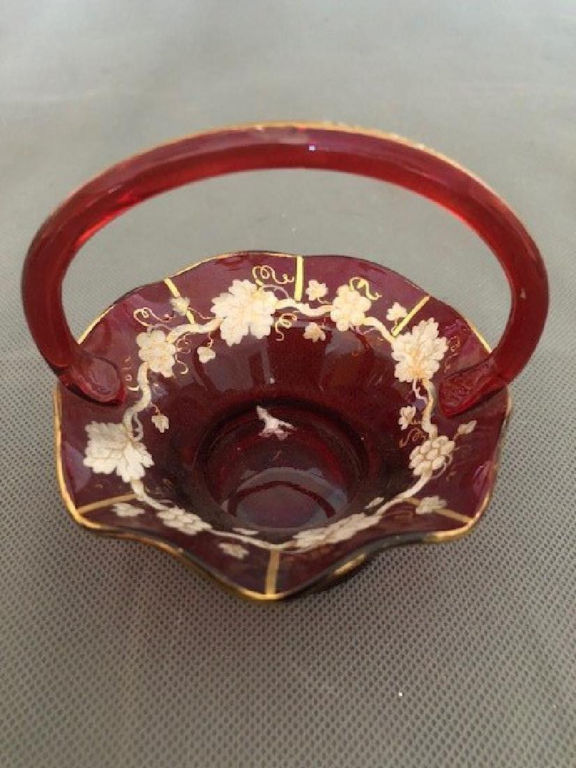 Bohemian ruby basket - 2