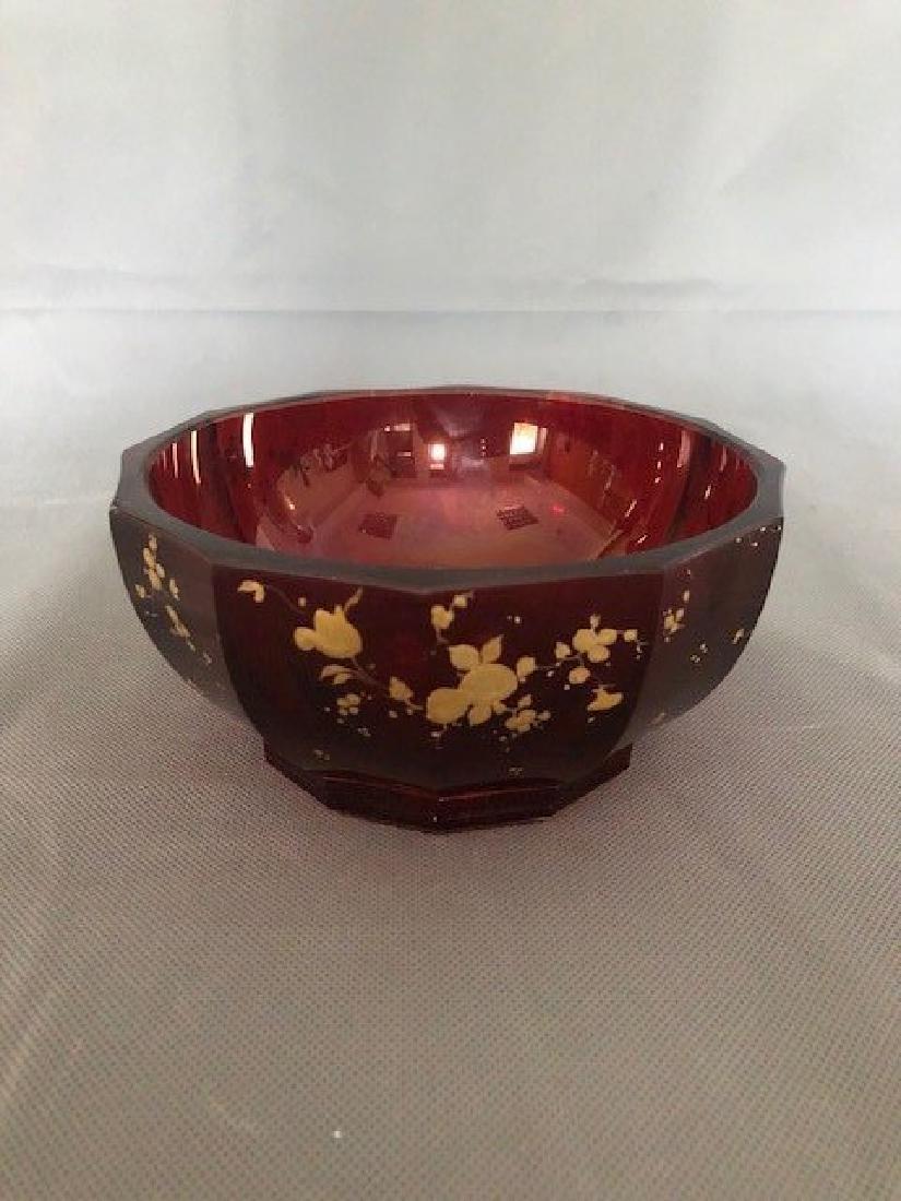 Bohemian ruby bowl