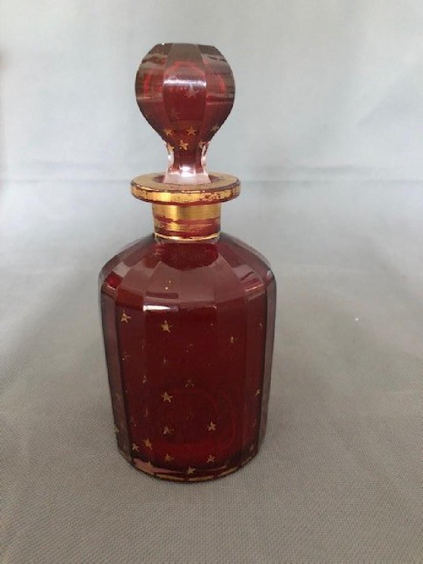 Bohemian ruby bottle