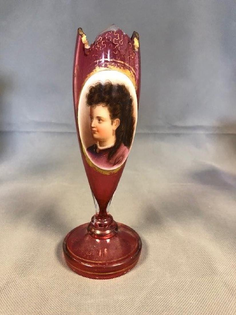 Bohemian portrait vase