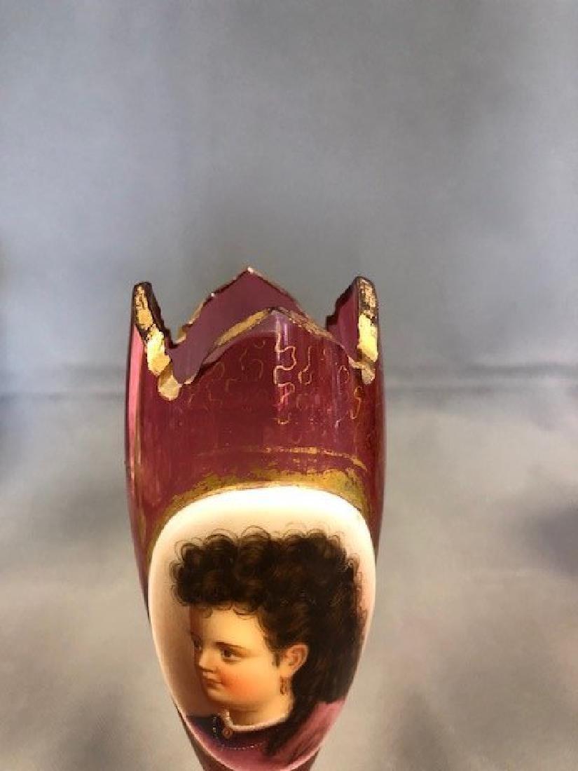 Bohemian portrait vase - 2