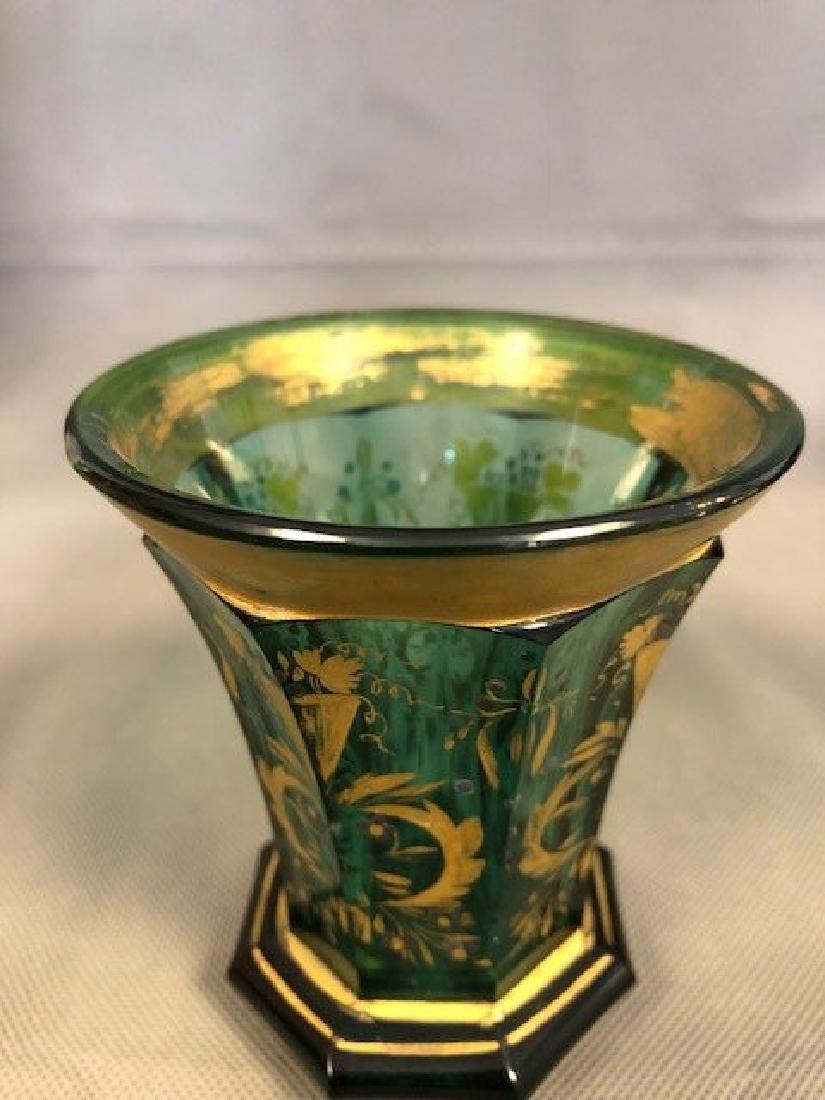 Bohemian green beaker - 2