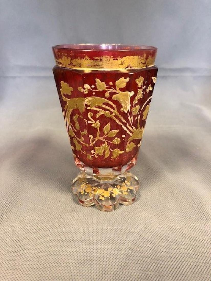Bohemian cranberry beaker high